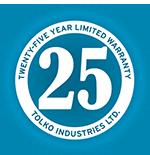 25 Year Limited Warranty emblem