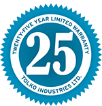 25 Year Limited Warranty emblem