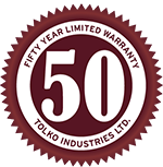 50 Year Limited Warranty emblem
