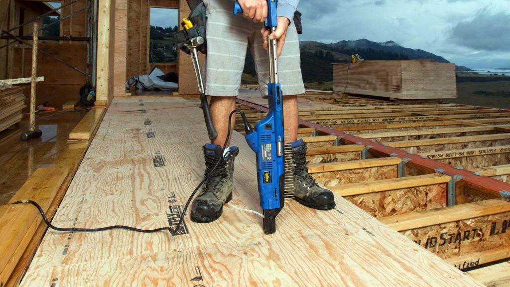 Plywood subfloor photo