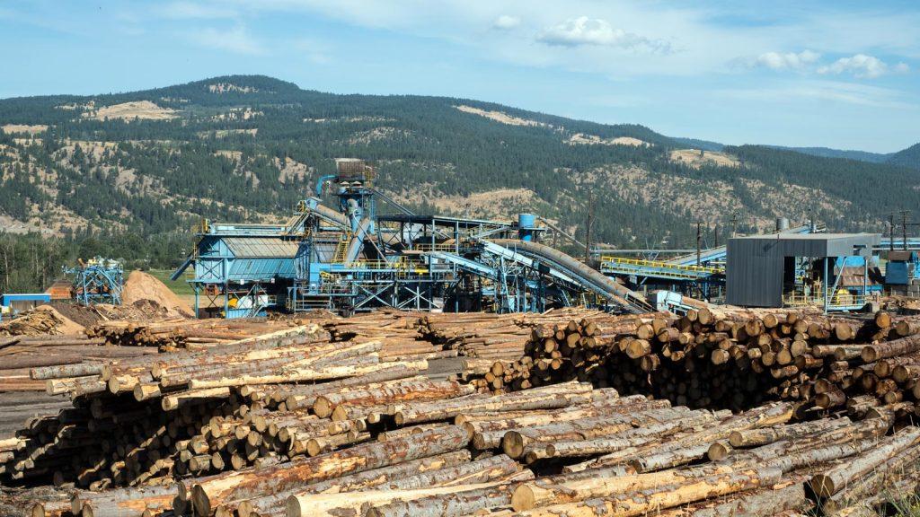 Tolko Heffley Creek mill in Kamloops, BC