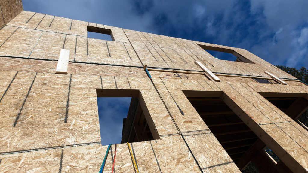 Tolko OSB sheathing used on residential building project