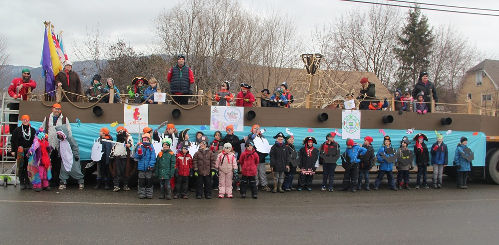 Tolko's Armstrong Plywood Division helps N. Okanagan Scouts with Carnival Parade Float