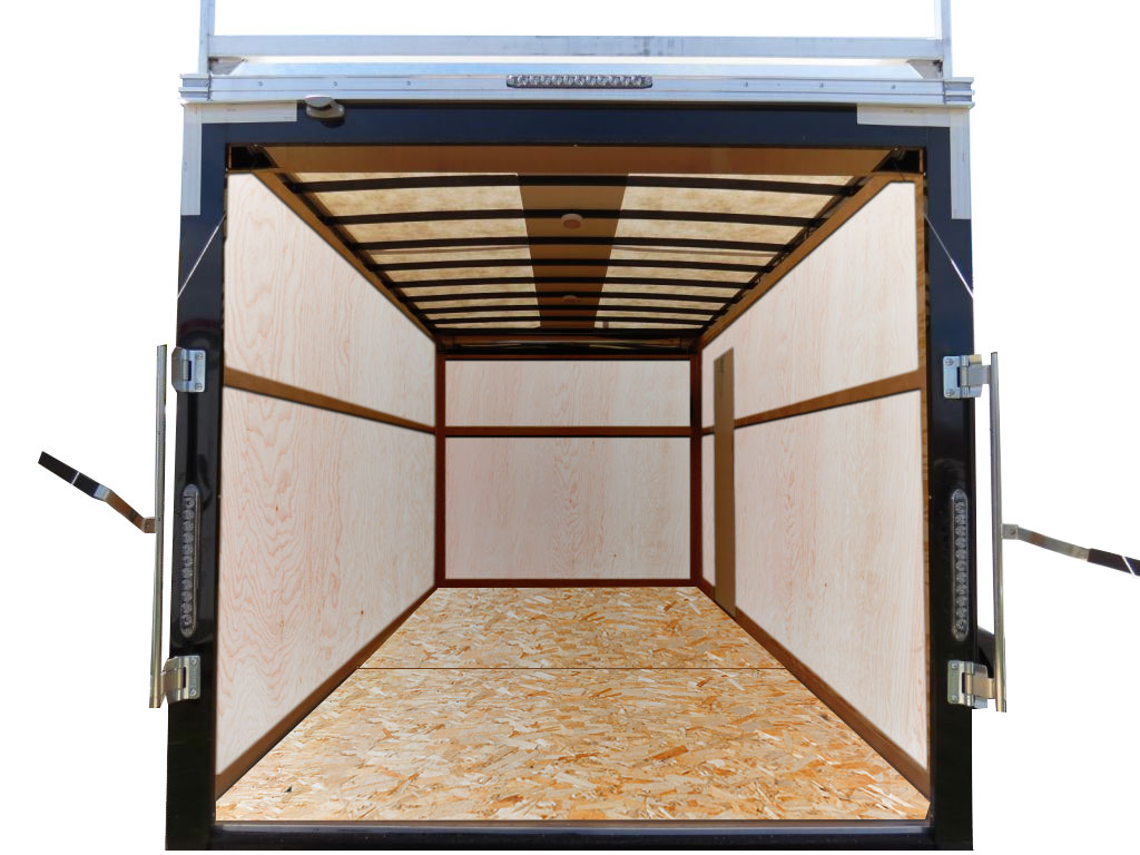 Cargo trailer with OSB