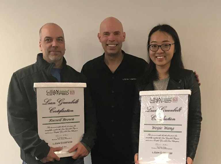 Congratulations to our two newest Lean Sensei Greenbelt grads!