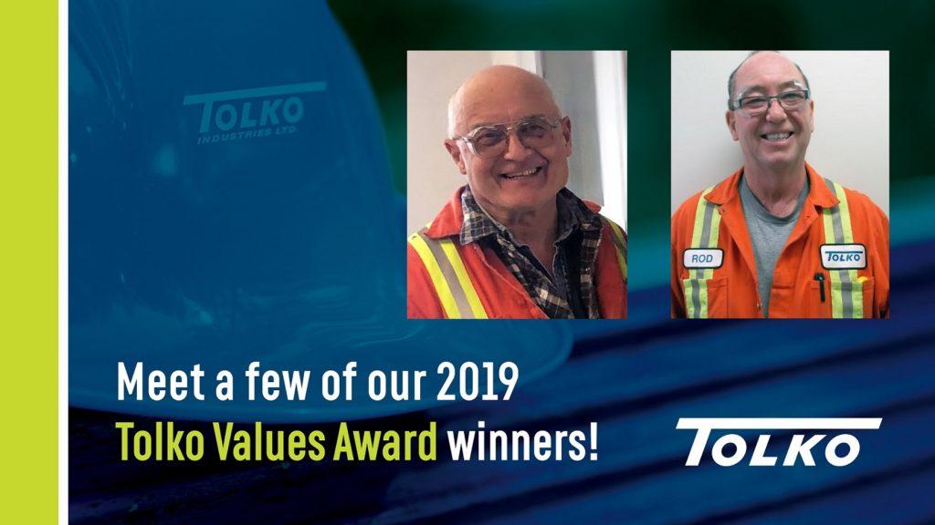 Meet three of Tolko's 2019 Values Award winners