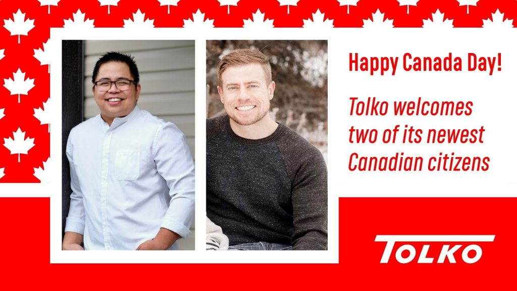 Happy Canada Day! Tolko welcomes two of its newest Canadian citizens